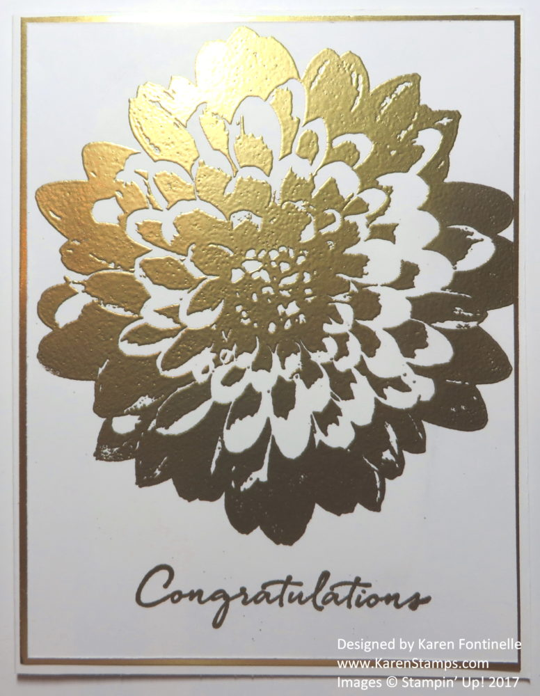 Definitely Dahlia Gold Embossed Congratulations Card