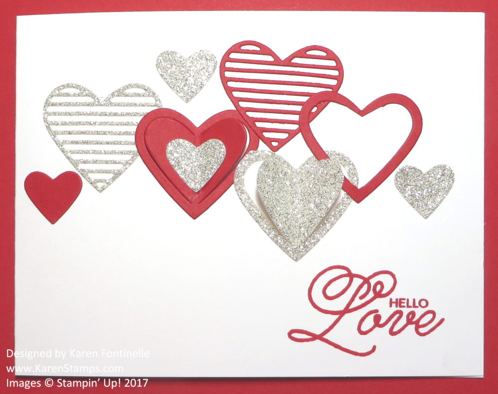 Die Cut Hearts Easy Valentine Card