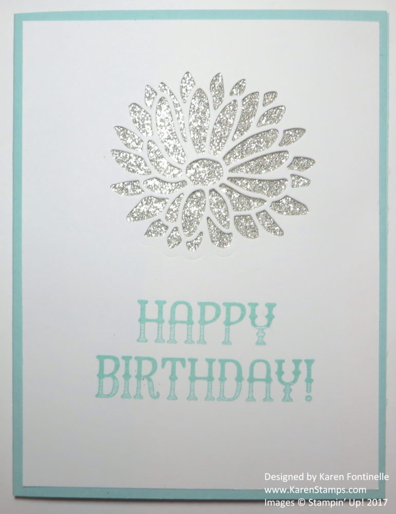 Stylish Stems Cutout Die Birthday Card