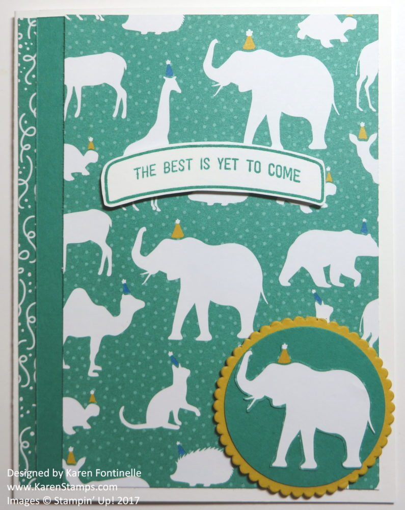 The Stampin' Up! Party Animal Circus Elephants