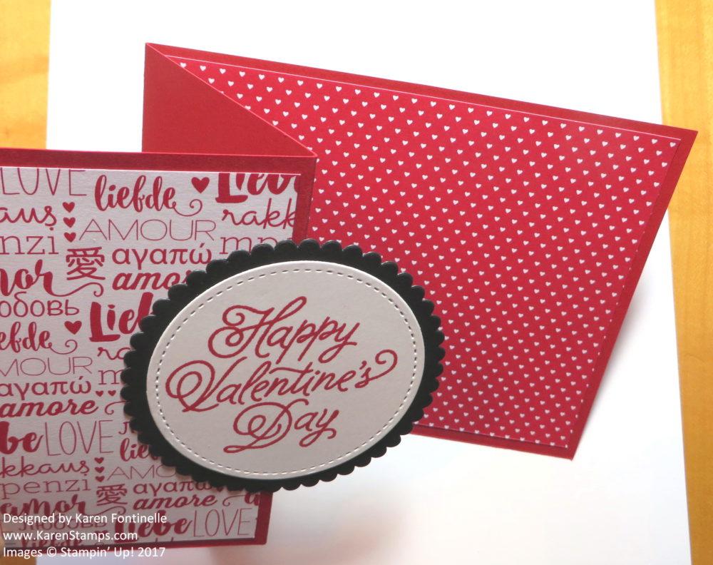 Z Fold Valentine Card Open