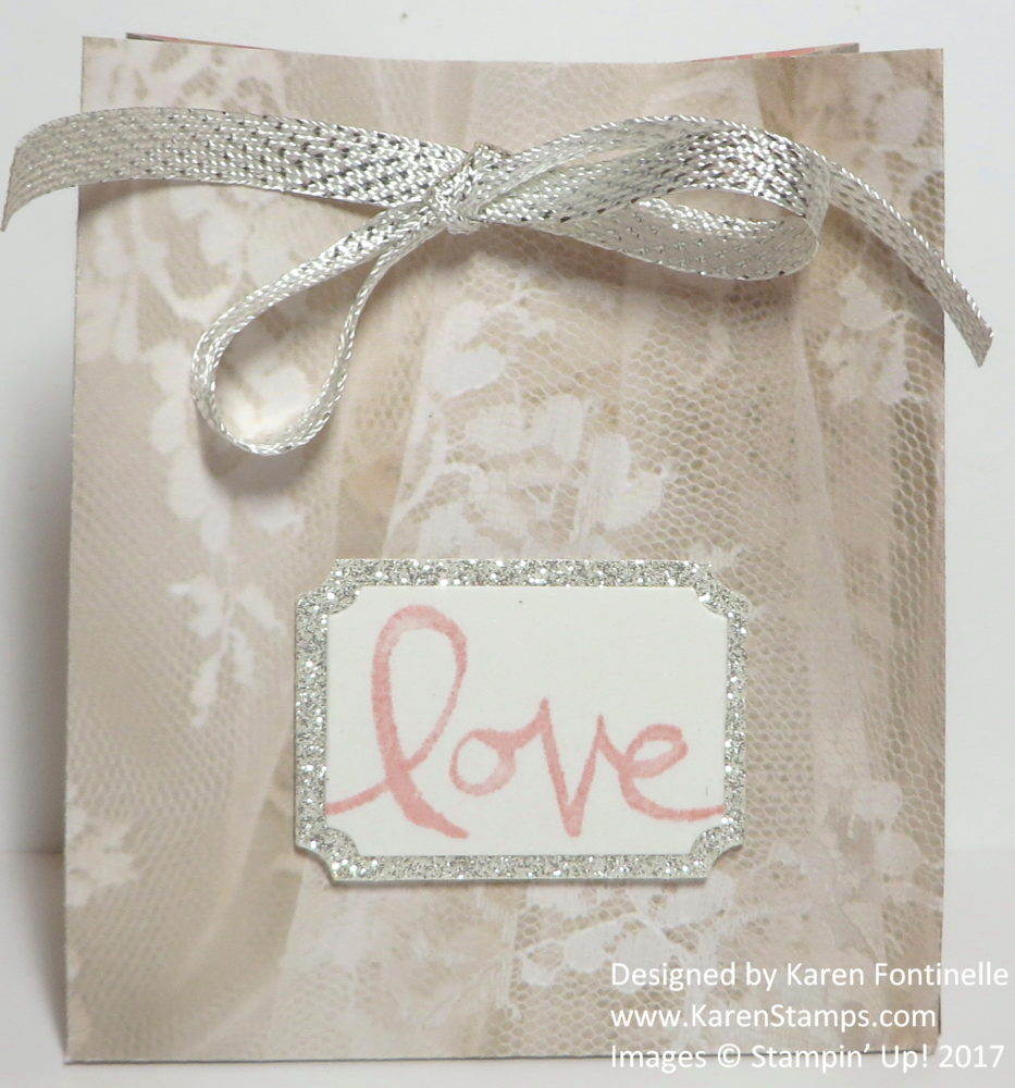 handmade paper lace gift bag