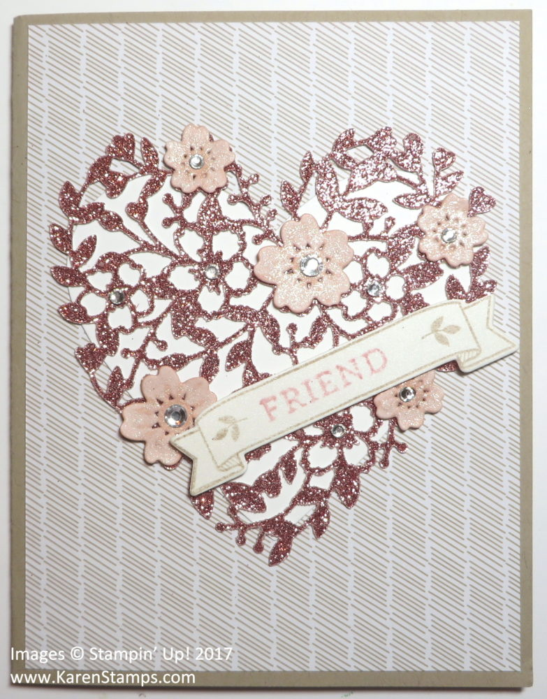 Make a Valentine Card with a Die-cut Glimmer Paper Heart