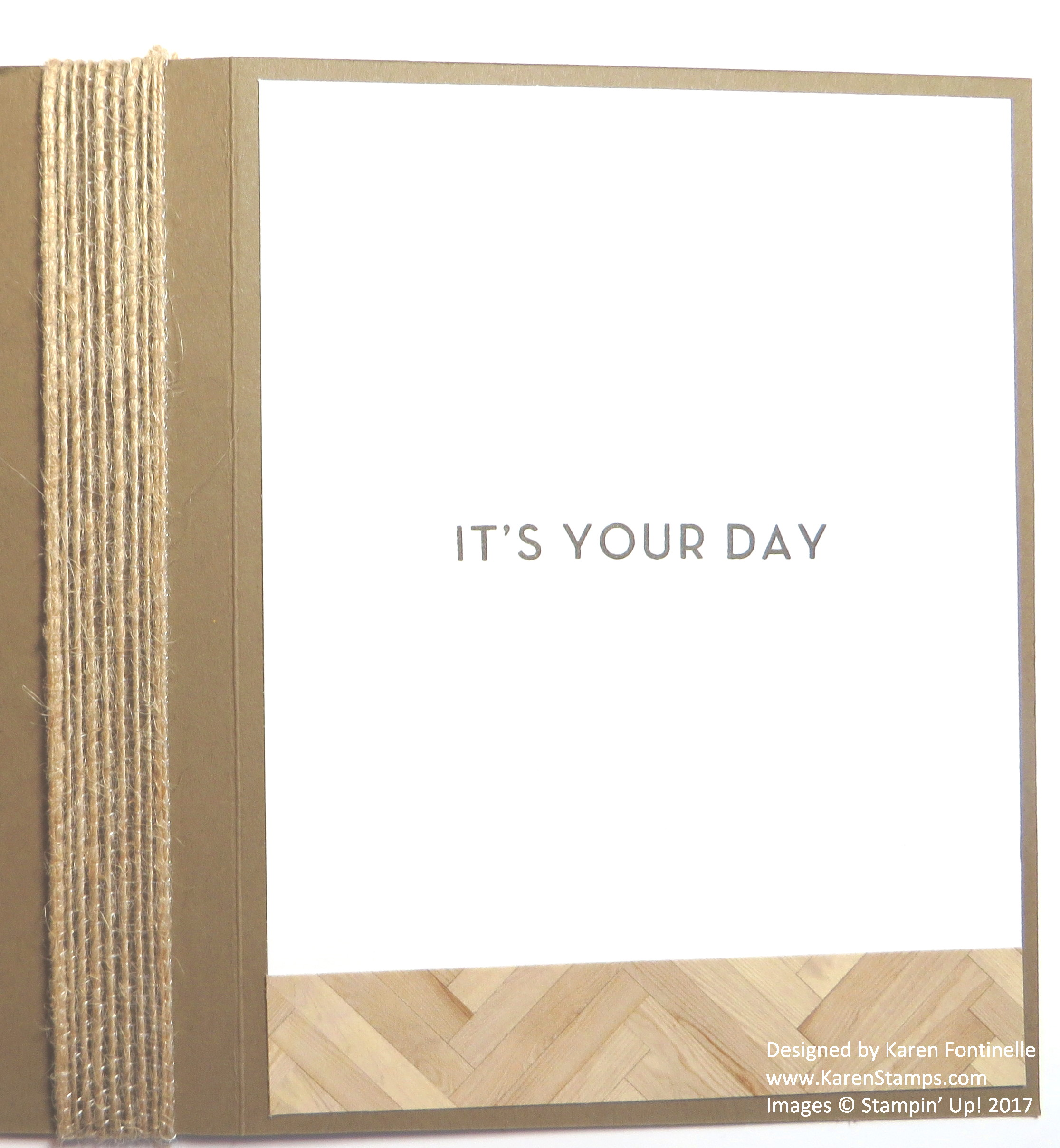 Easy Masculine Birthday Card with Serene Scenery Inside