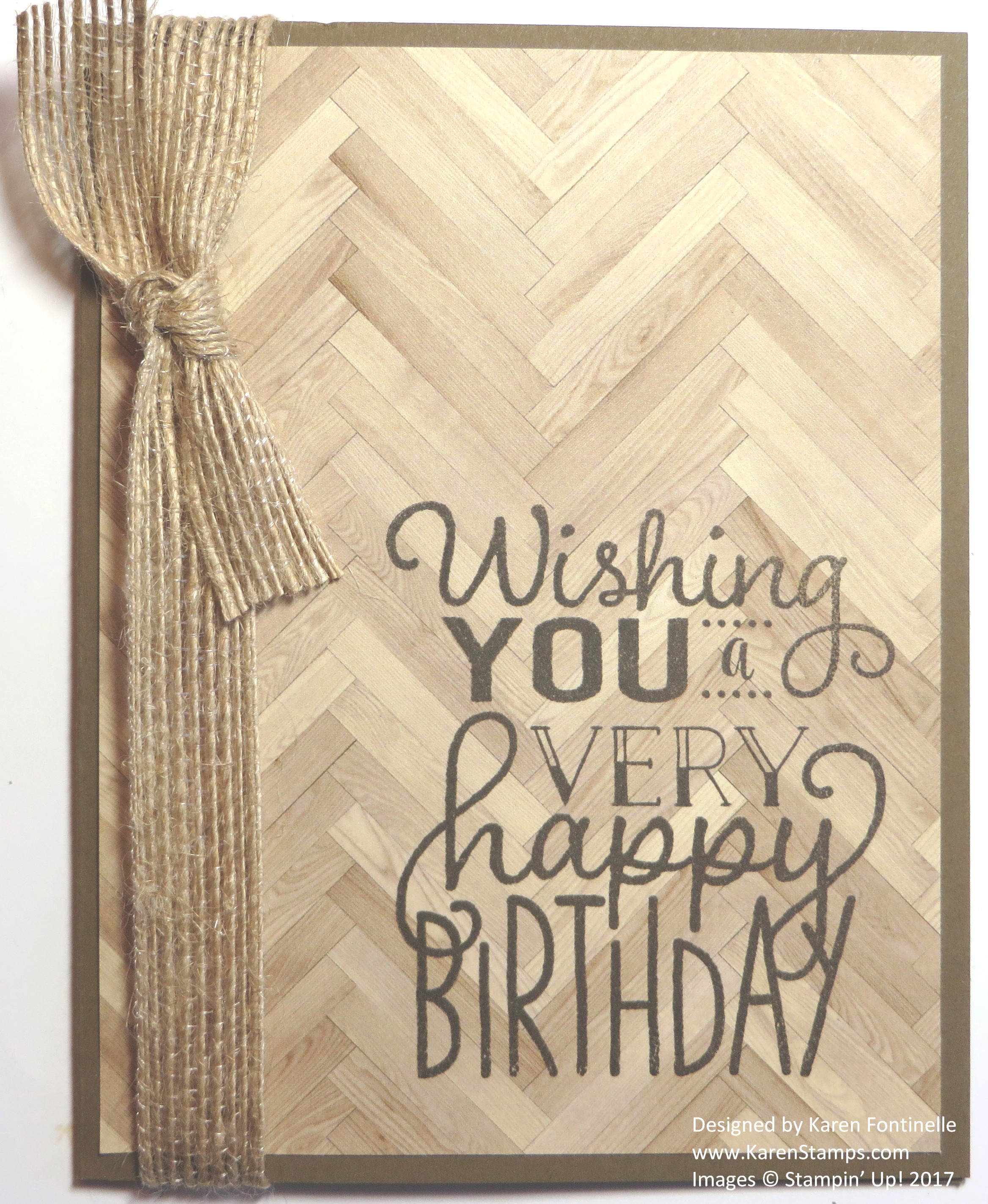 Easy Masculine Birthday Card with Serene Scenery