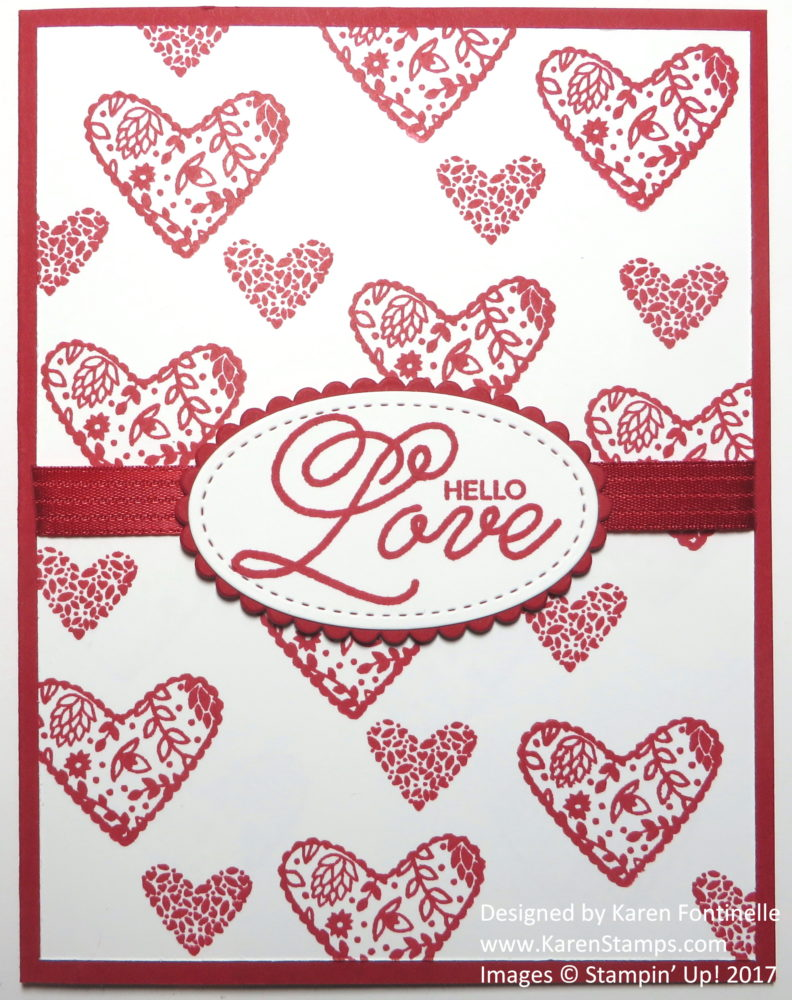 Easy Stamped Valentine Card