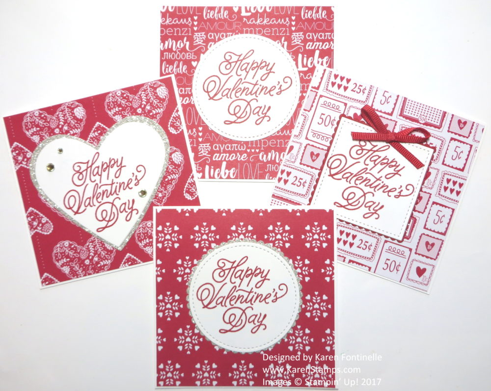 Easy Valentines to Make with Sending Love Paper Stack
