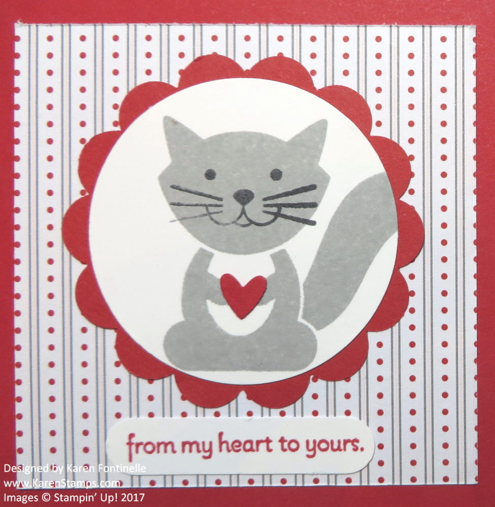 Foxy Friends Kitty Valentine