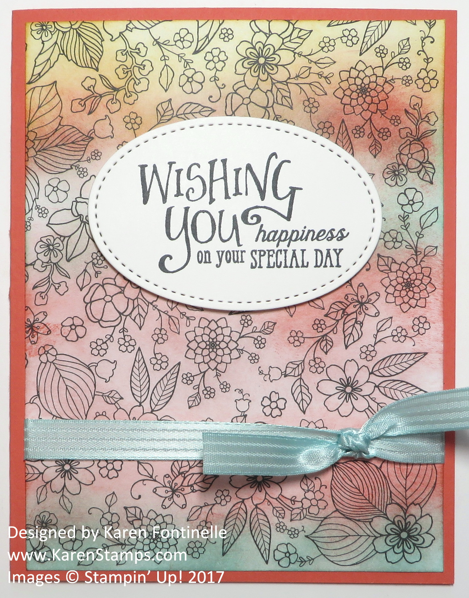 Making a Birthday Card With Easy Adult Coloring