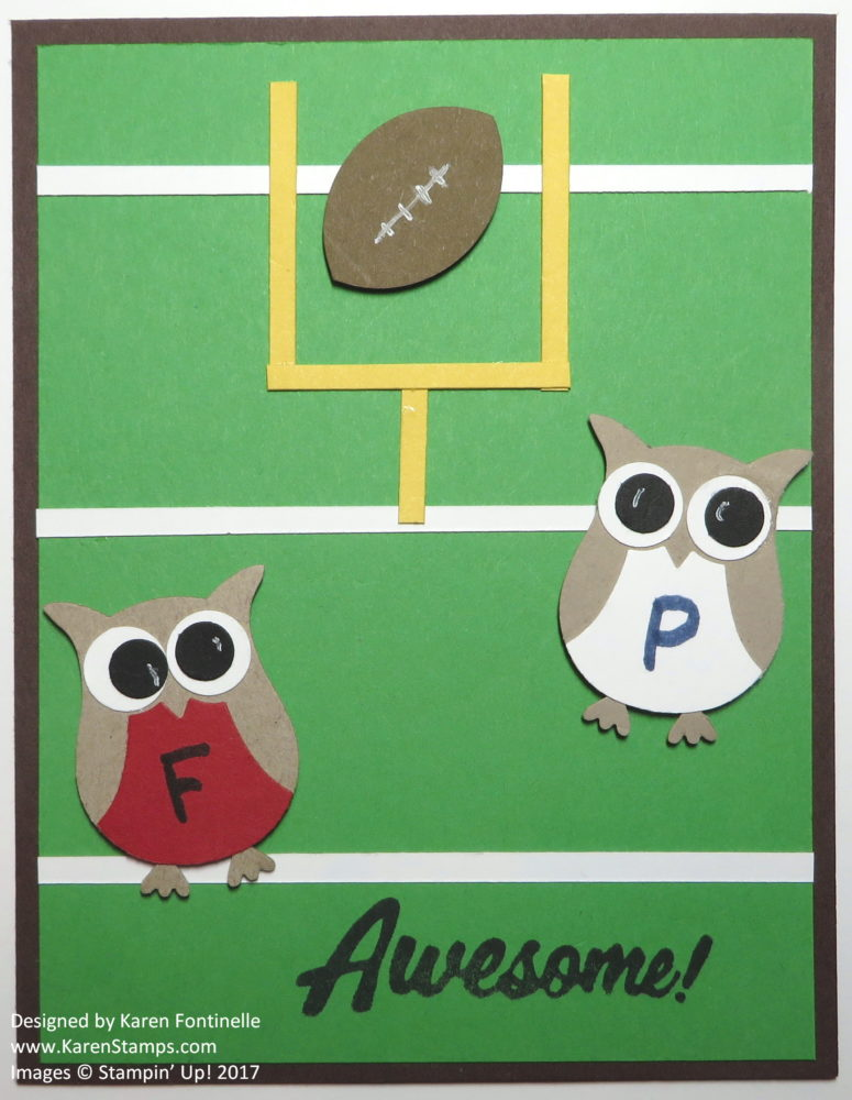 Super Bowl 2017 Owl Punch Football Game Card
