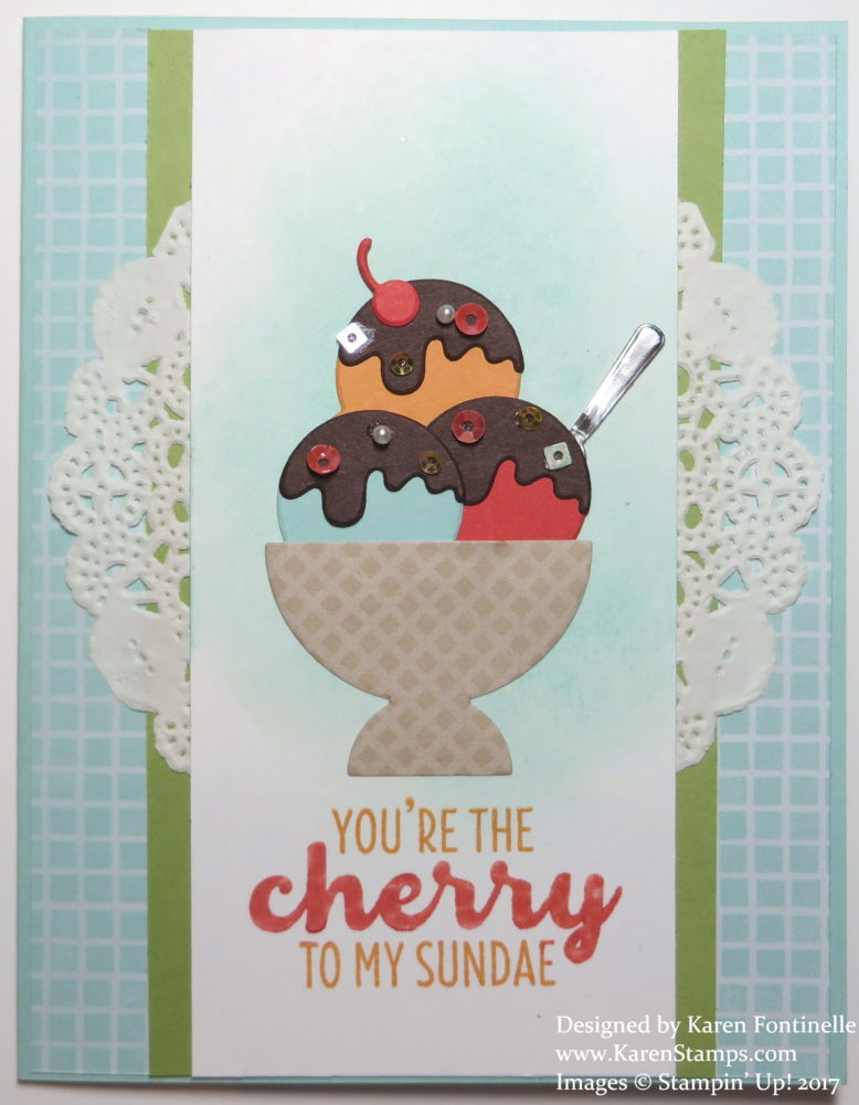 Cool Treats Ice Cream Sundae Card