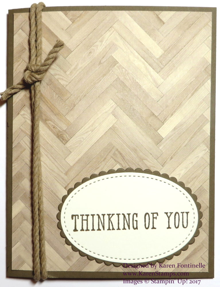 Easy Masculine Thinking of You Notecard