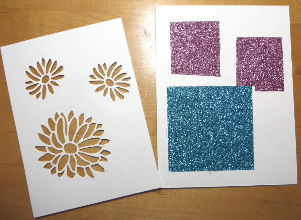 Glimmer Paper Placement Under Die Cuts