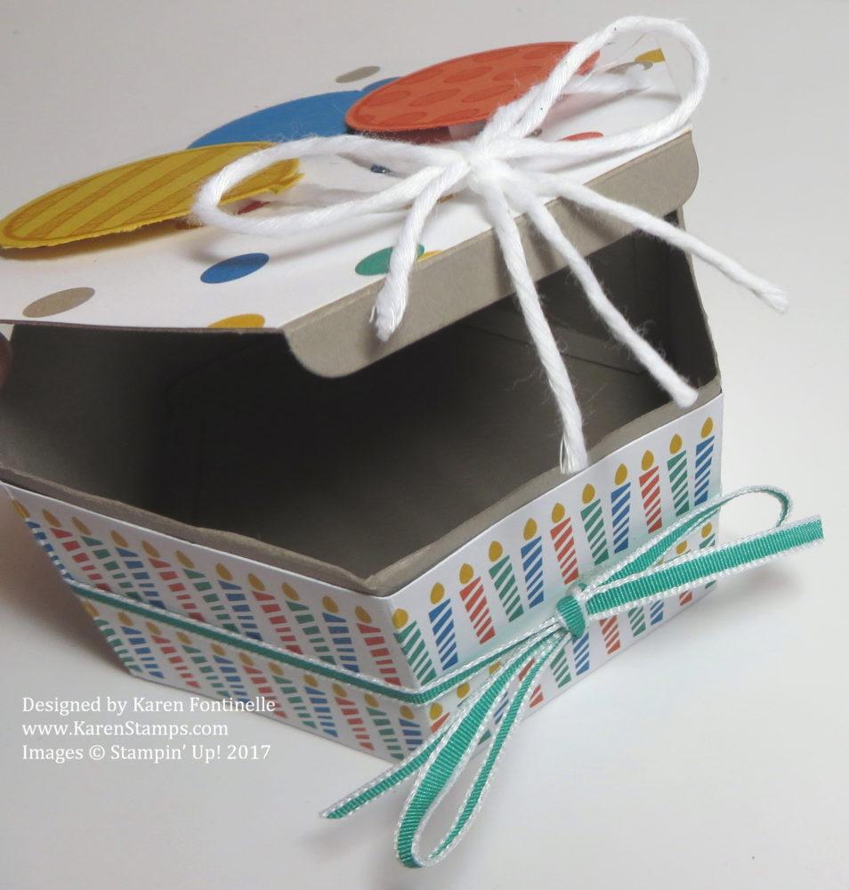 Hexagonal Birthday Gift Box