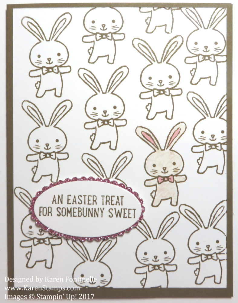 Quick and Easy Easter Bunny Card