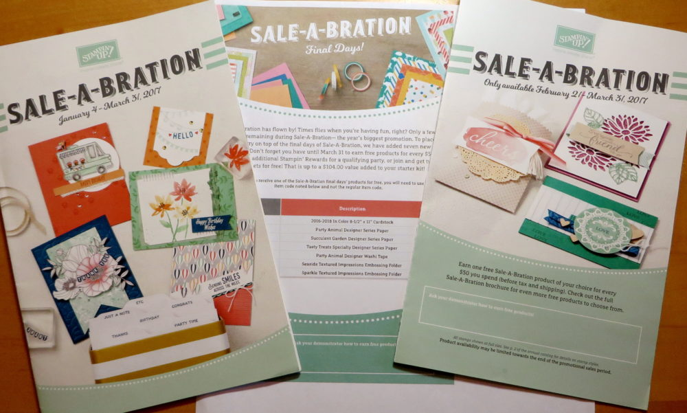 Sale-A-Bration Brochures 2017