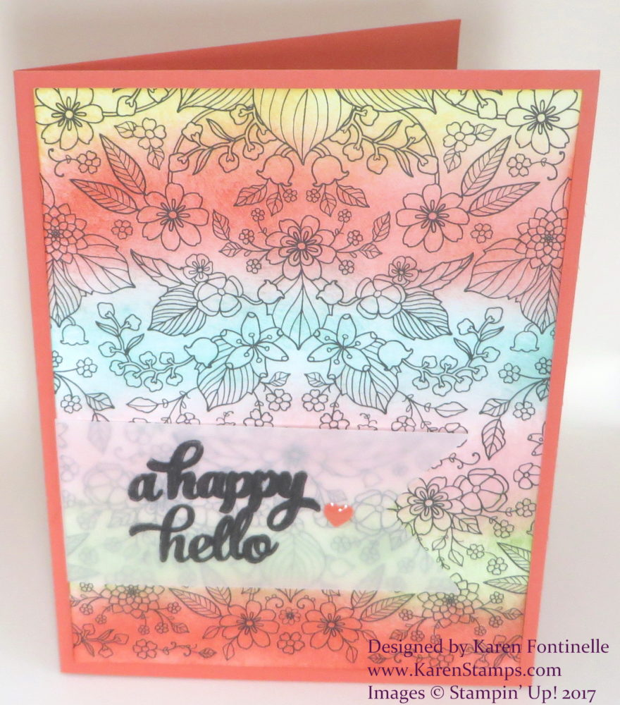 Sale-A-Bration Adult Coloring Card