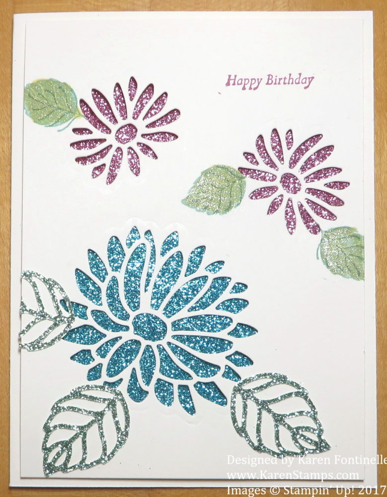 Using Glimmer Paper Under Die Cuts