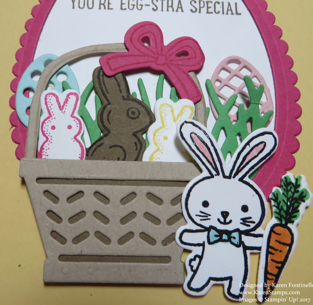 Basket Bunch Easter Card Close Up