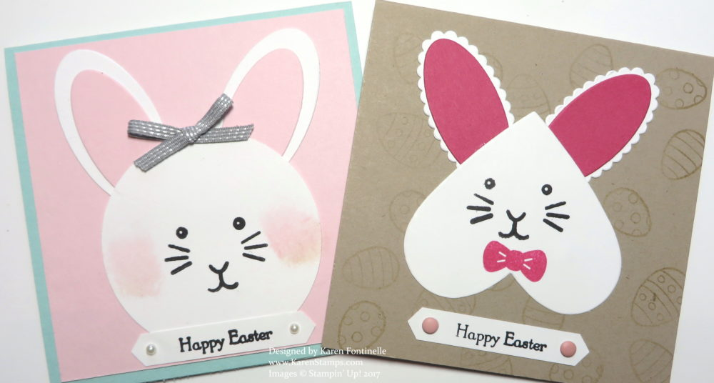 Easy Punch Art Easter Bunnies