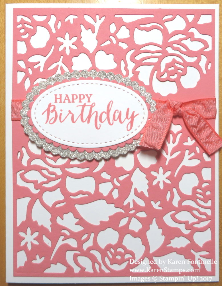 Elegant Birthday Card With Detailed Floral Thinlits Dies