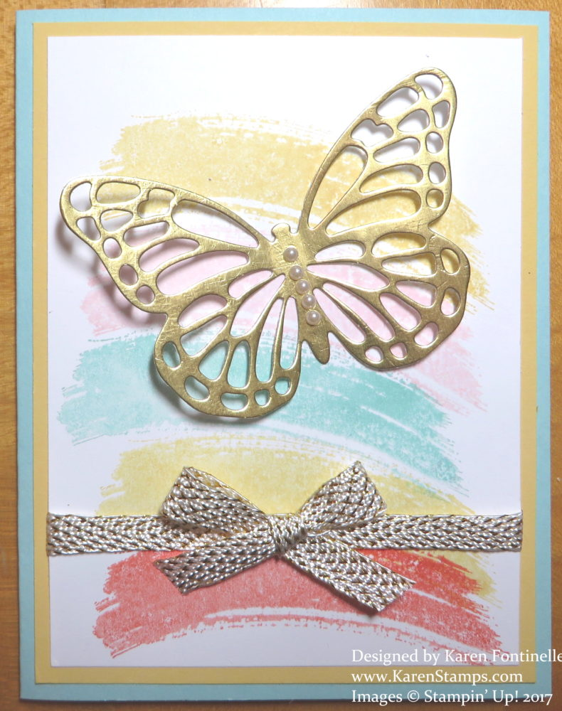 Generic Butterfly Work of Art Card