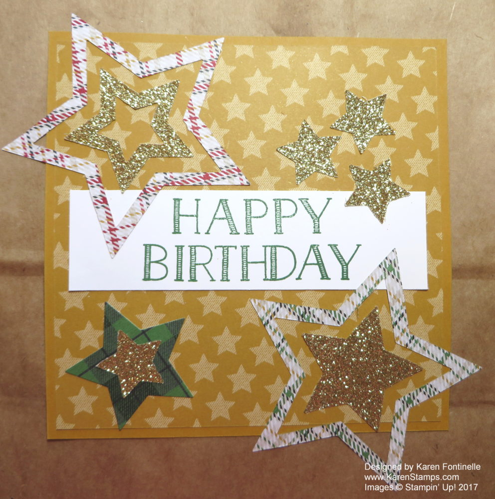 Make a Birthday Gift Bag closeup