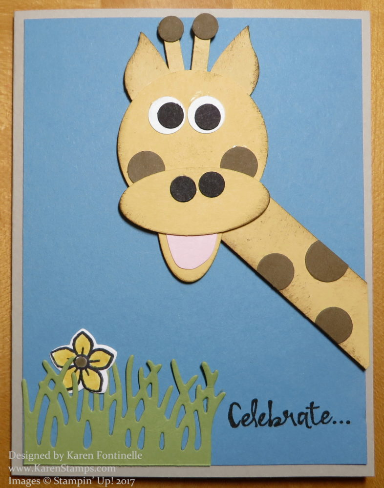 Punch Art New Baby Giraffe Card