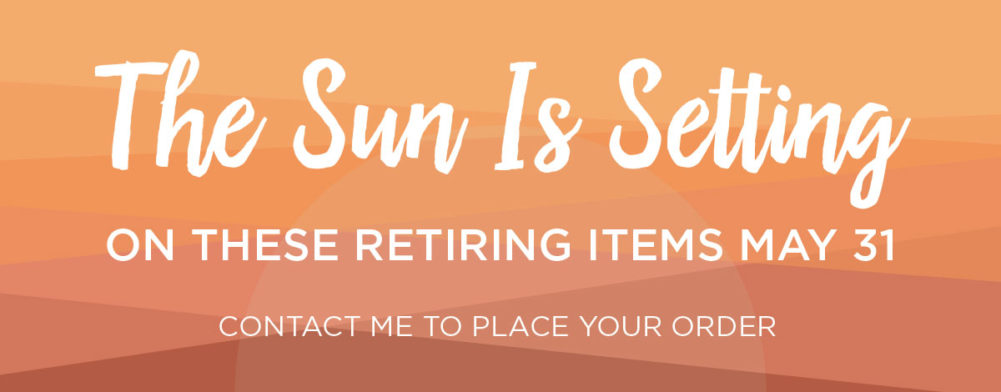 Stampin' Up! Retirement Banner Sun Is Setting 2017