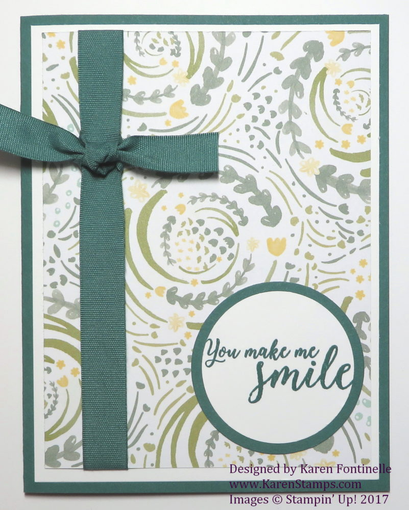 An Easy Card a Beginning Stamper Can Make
