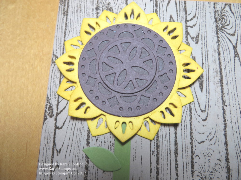Eastern Palace Medallion Sunflower Card Close Up