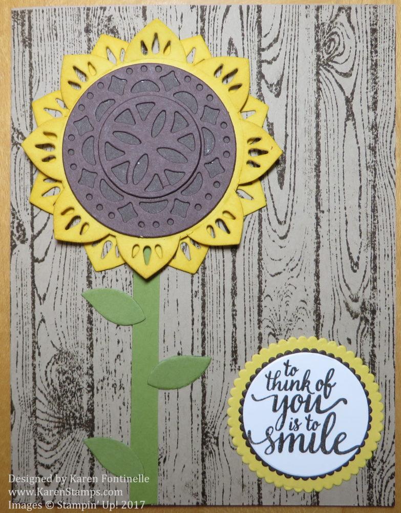 Eastern Palace Medallion Sunflower Card
