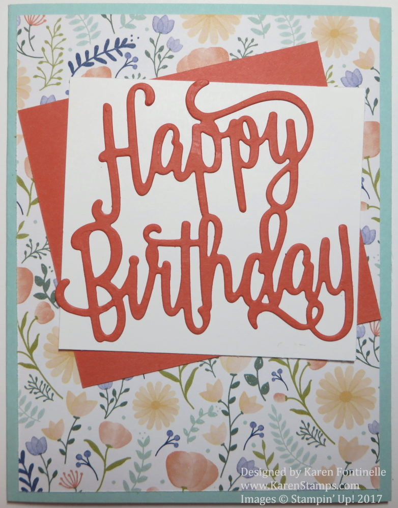 Easy Birthday Card With Die Cut Greeting