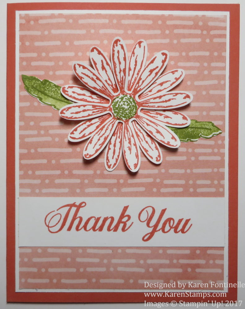 Easy Thank You Card With Delightful Daisy