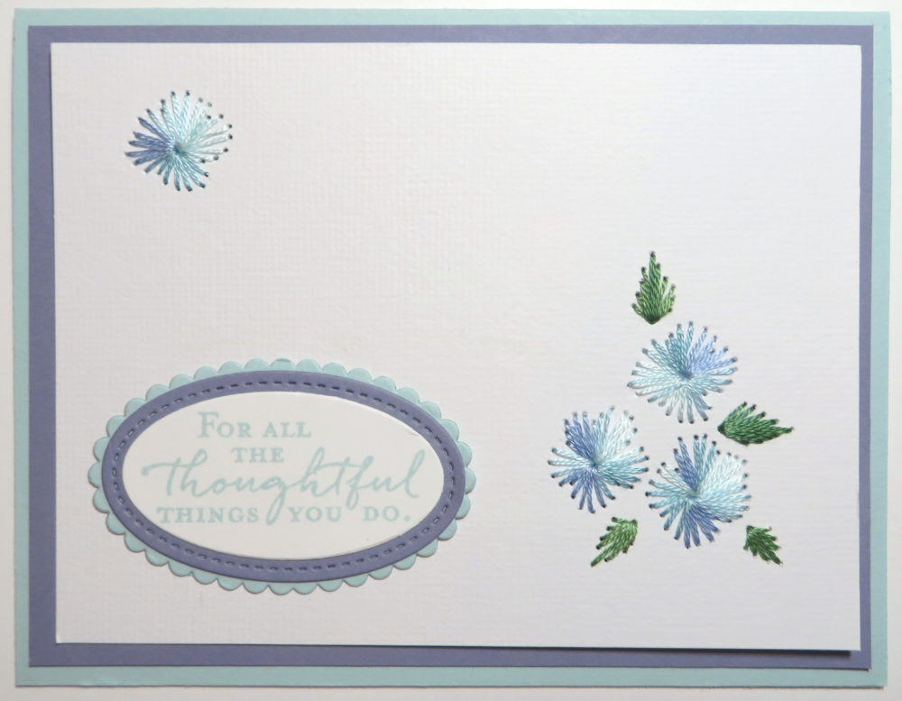 Embroidered Cards Blue