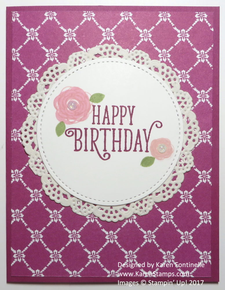 Quick and Easy Birthday Card with Doily