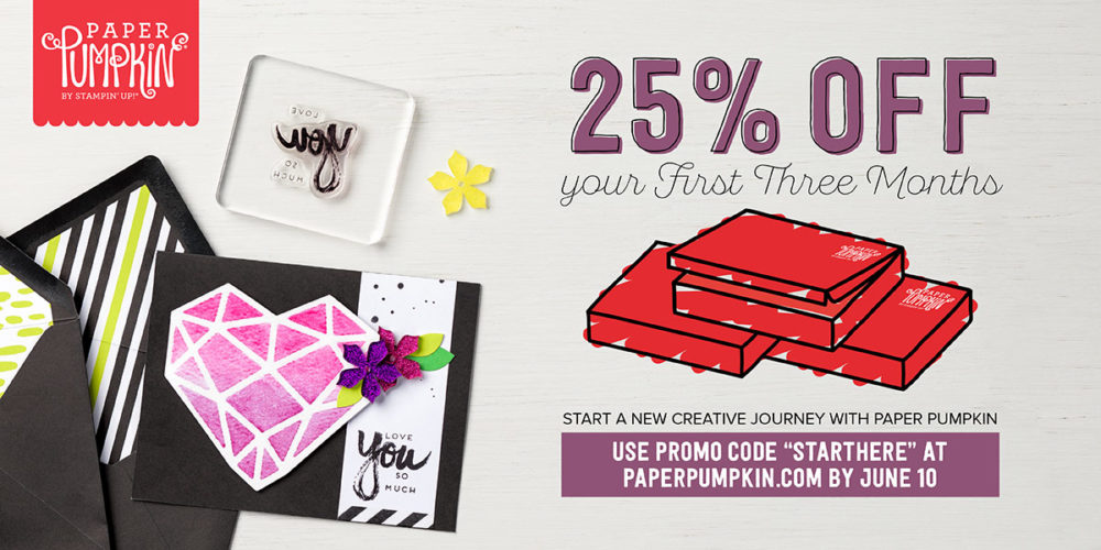 Paper Pumpkin 25% Off Promo June 2017