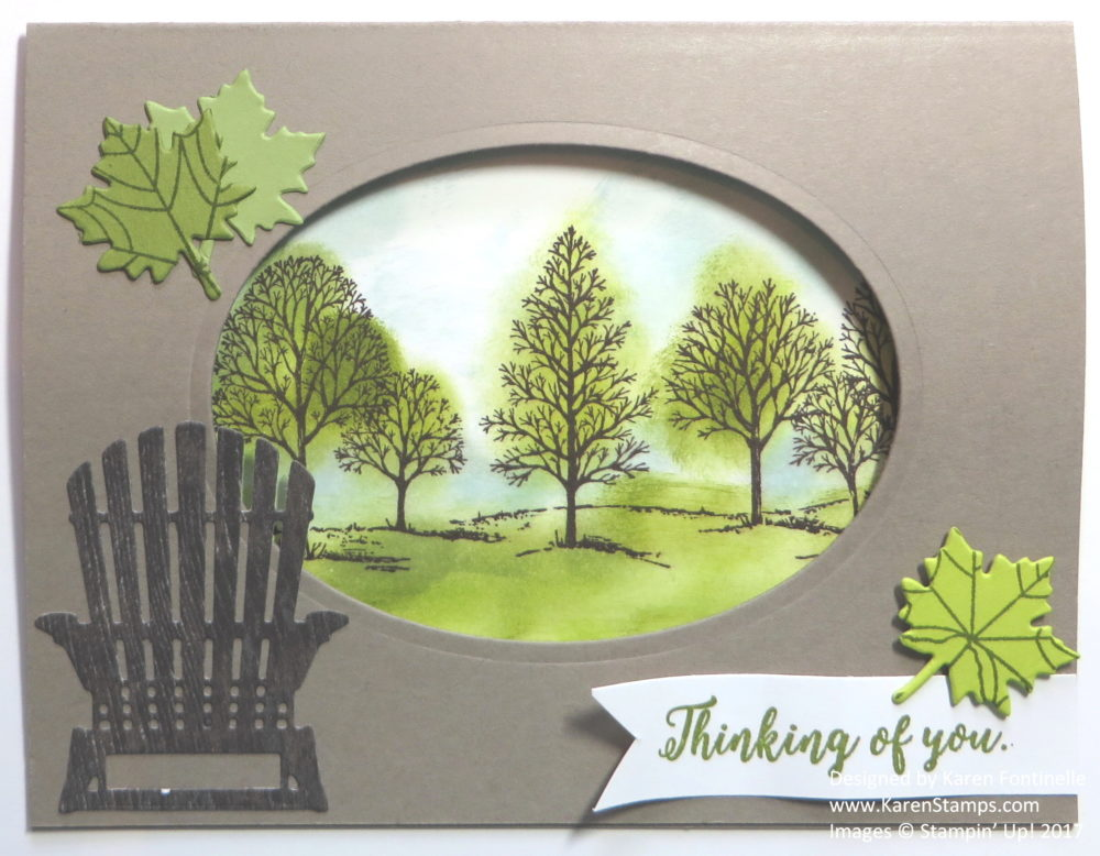 Thinking of You Oval Window Card