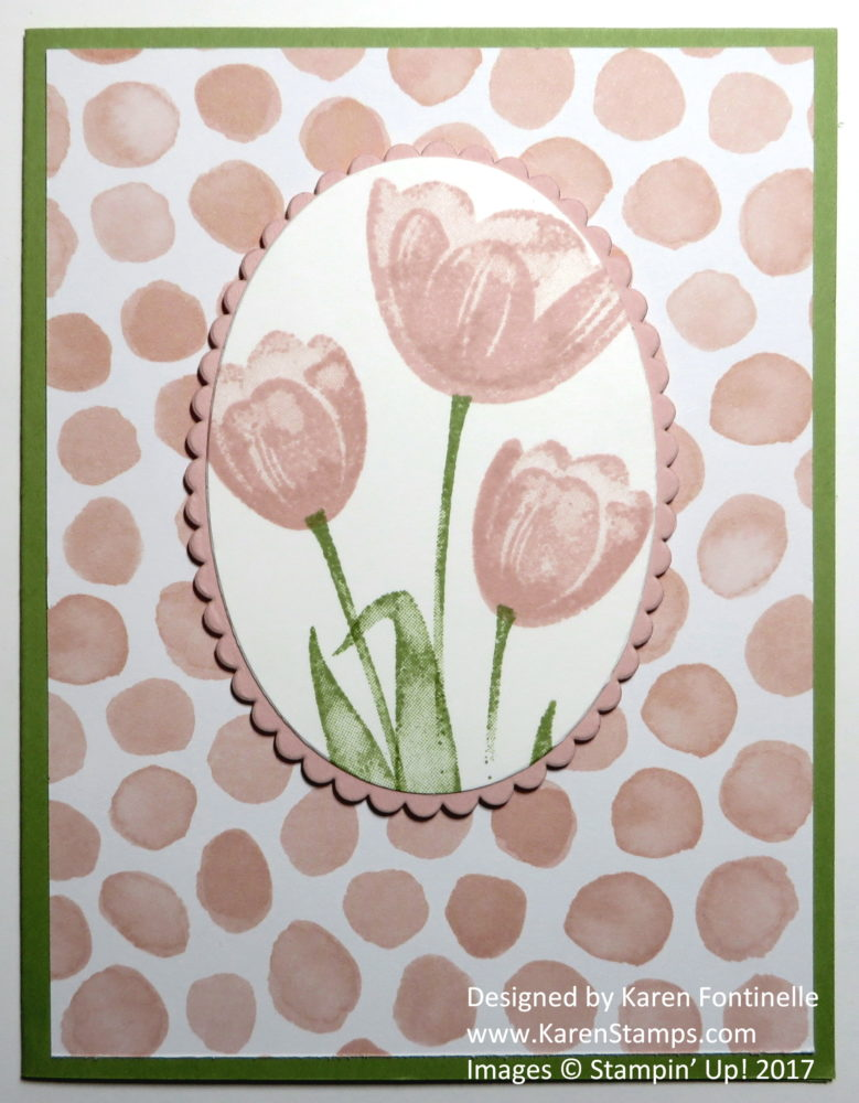 Easy Tulip Card With Tranquil Tulips