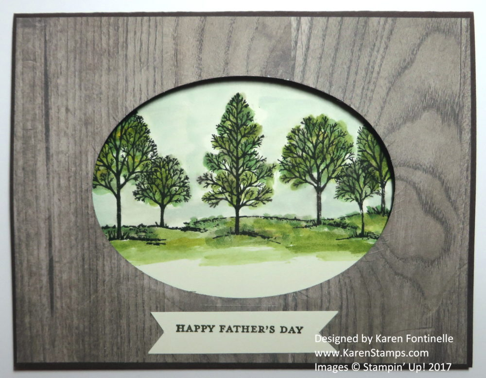 Father's Day Card Oval Window Lovely As a Tree