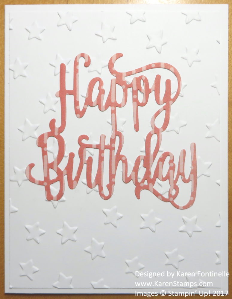 Quick And Easy Happy Birthday Card To Make Stamping With Karen