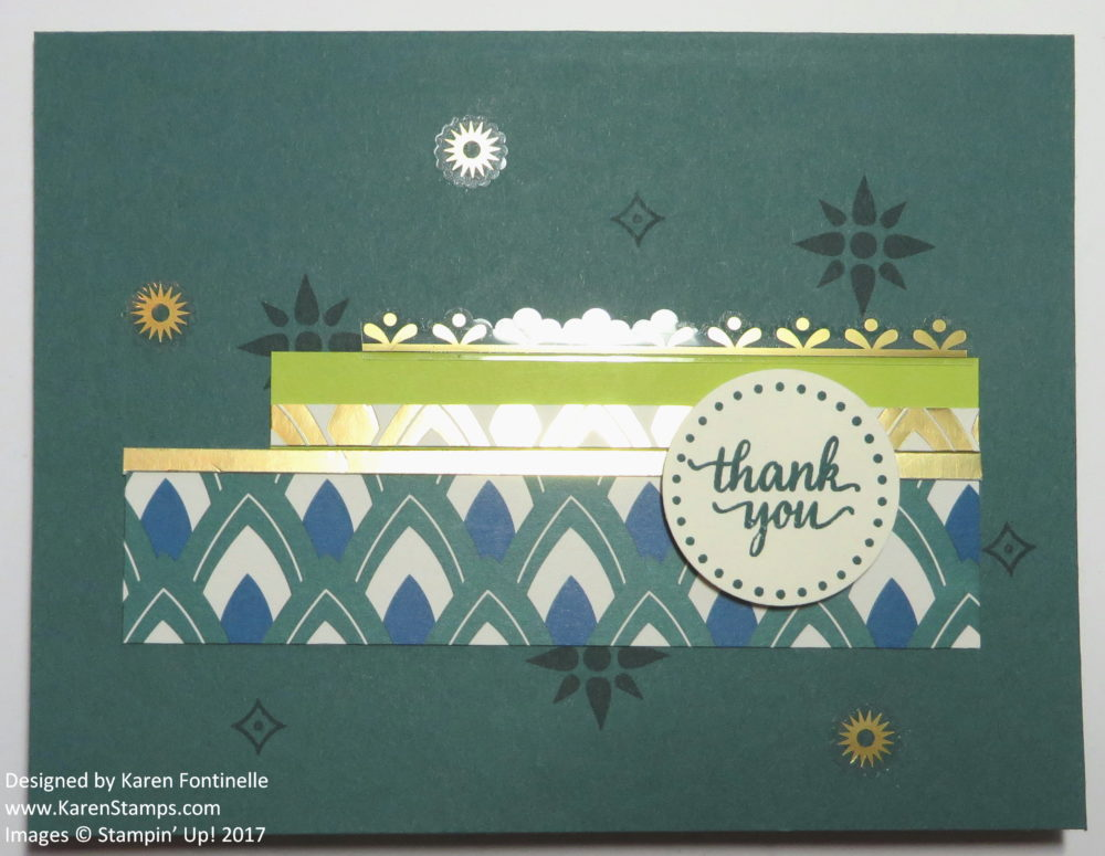 Using Scraps to Make a Card with the Eastern Palace Suite