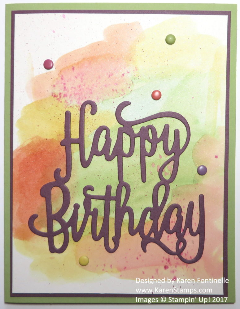 How to Make an Easy Watercolored Birthday Card