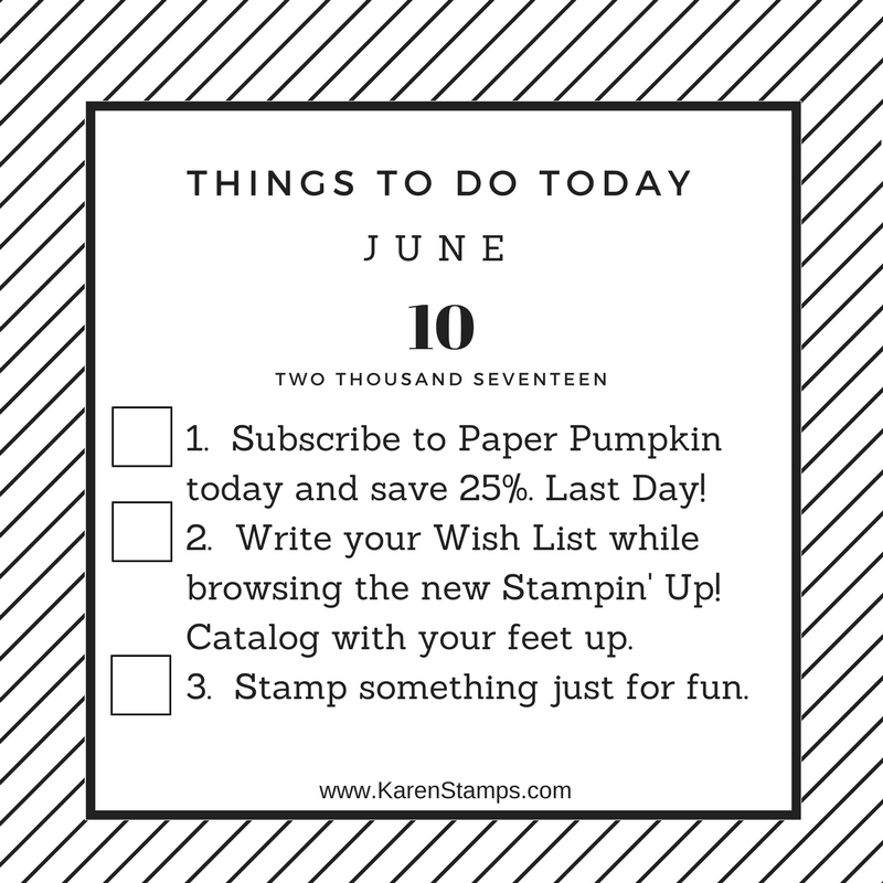 Stamping Chores Chart