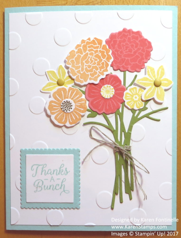 Flowery Thank You Card With Beautiful Bouquet