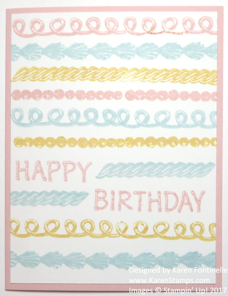 Stamp an Easy Icing on the Cake Birthday Card