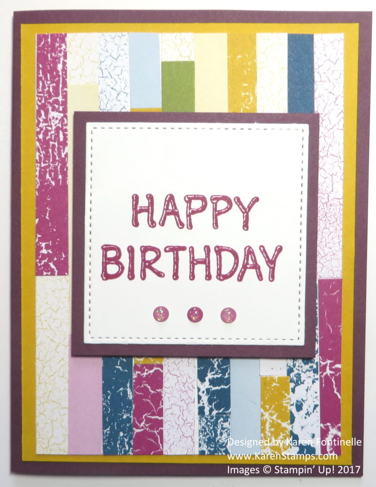 Using Paper Scraps on a Birthday Card