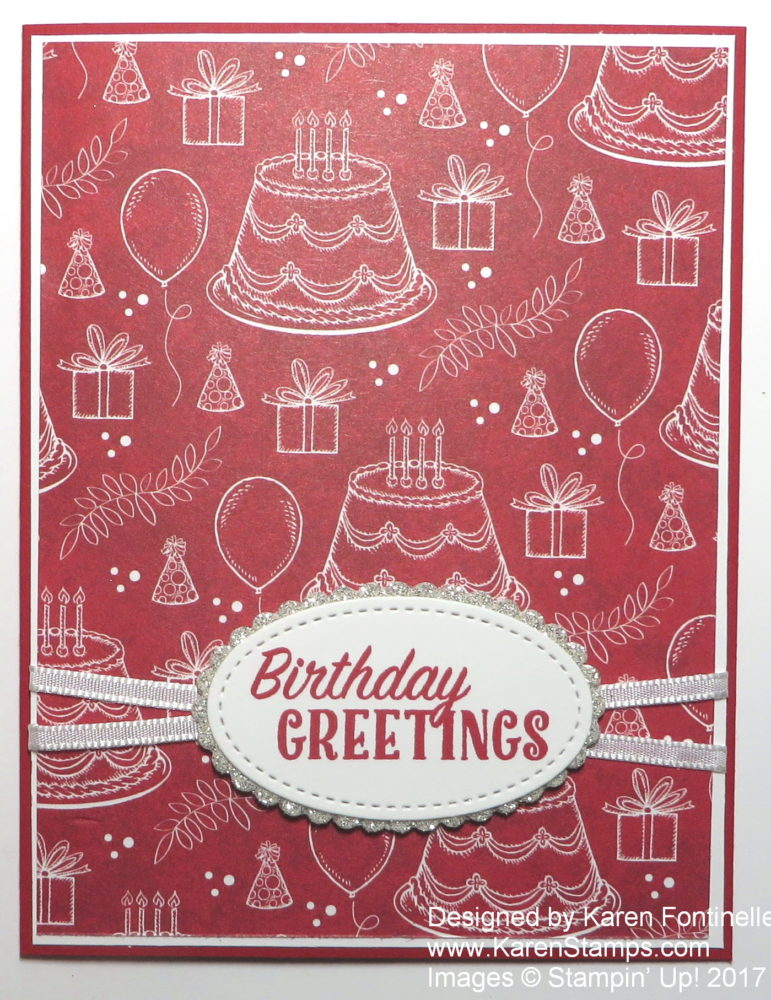 Quick And Easy Birthday Card With Birthday Memories Stamping With