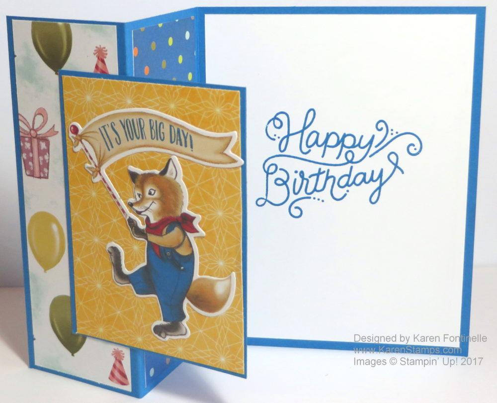 Birthday Memories Z-Fold Card Open