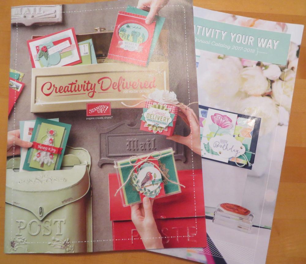 Stampin' Up Catalog and Holiday Catalog Hurricane Harvey Reading Materials